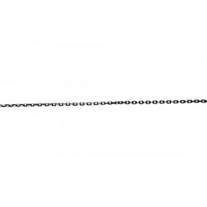 Sterling Silver 925 Oxidised Diamond cut Trace Chain