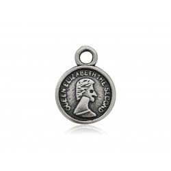 Sterling Silver, SMALL COIN CHARM