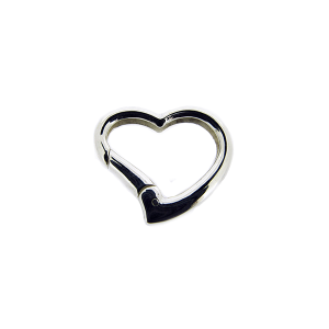 Sterling Silver 925 Heart Clasp 22mm x 25mm, thick 3.5mm