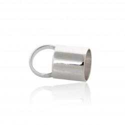 Sterling Silver 925 Plain End Cap I/D 7.4mm length 10.0mm