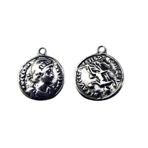 Sterling Silver 925 Coin Pendant 15.7mm