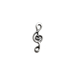 Sterling Silver 925 Treble Clef Charm Silver Musical Objects
