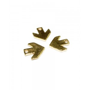 5% 14K Gold Plated Brass Arrow Charm Gold Plated Charms, Pendants