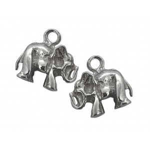 S925 ELEPHANT CHARM WITH RING