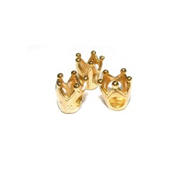 5% 14K GOLD PLATED CROWN BEAD 11 X 9 X 9MM