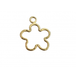 Gold Filled Hammered Flower, 15.6 x 18mm, 0.8mm thickness