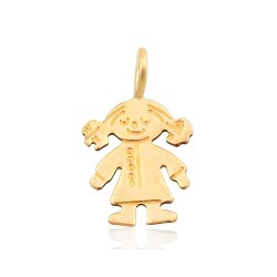 Gold Filled Girl Charm, 8 x 14mm, 0.35mm thickness