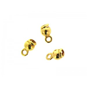 Gold Filled End Cap, 3.5 x 4.1mm, inside D 1.8mm
