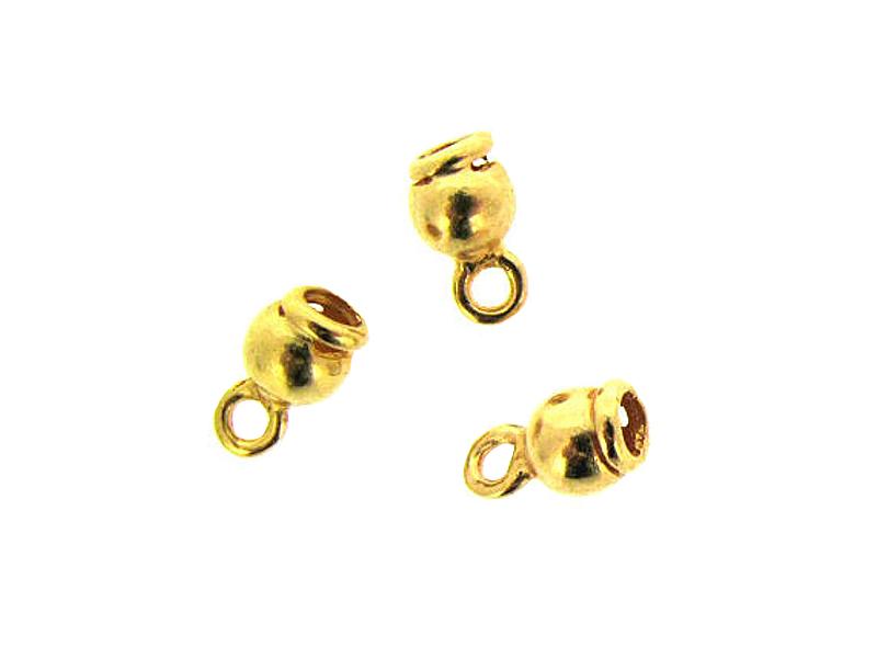 Gold Filled End Cap, 3.5 x 4.1mm, inside D 1.8mm Gold Filled End Caps, Pendant Bails