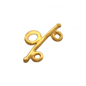 5% 14K Gold Plated Brass 2 Row Toggle, 7 x 13mm, 0.7mm thickness