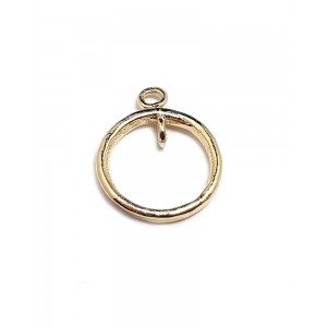 5% 14K Gold Plated Ring Pendant 13mm