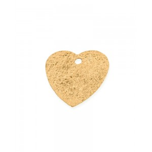 5% Gold Plated Textured Heart Pendant, 11.2 x 13.3mm, 0.4mm thickness