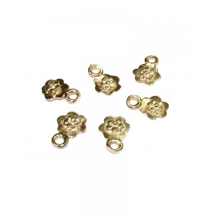 Gold Filled Tiny Flower Charm, 5.7 x 8.3mm, 0.3mm thickness