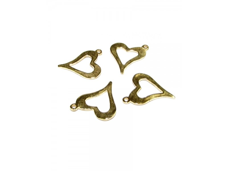 Gold Filled Hammered Heart Pendant, 12 x 14mm, 0.35mm thickness Gold Filled Hearts & Feelings