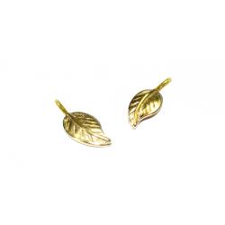 Gold Filled Textured Leaf, 6 x 15.5mm