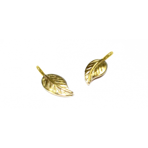 Gold Filled Textured Leaf, 6 x 15.5mm Gold Filled Flowers & Plants