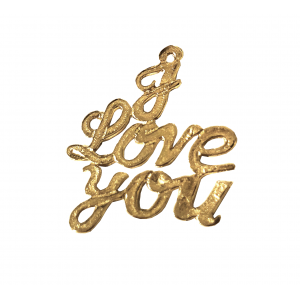 Gold Filled 'I Love You' Pendant, 19.5 x 21mm, 0.6mm thickness Gold Filled Hearts & Feelings