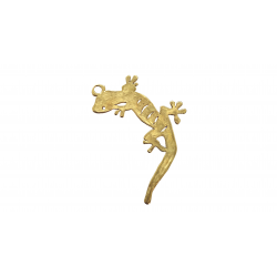 Gold Filled Gecko Pendant, 18.3 x 20.8mm, 0.9mm thickness