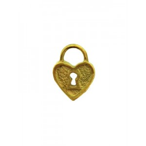 Gold Filled Heart Padlock Charm, 8.5 x 12mm, 1.65mm thickness