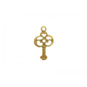 Gold Filled Key Pendant, 9.3 x 16.3mm, 0.9mm thickness