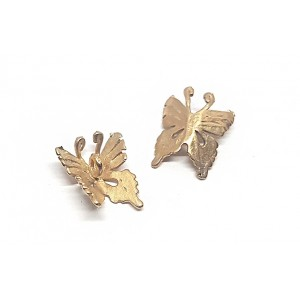 5% 14K GOLD PLATED BUTTERFLY CHARM, 10 x 12mm, 0.5mm thickness