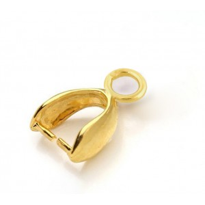 5% 14K GOLD PLATED PINCH BAIL