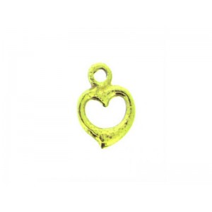 Gold Filled Tiny Heart Charm, 8.6 x 6mm, 1mm thickness
