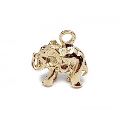 Gold Filled Elephant Charm, 7 x 9mm, 3mm thickness