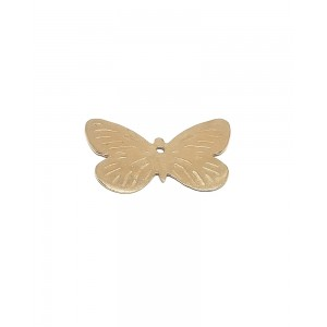 5% 14K Gold Plated Brass Butterfly with hole 16mm x 25mm