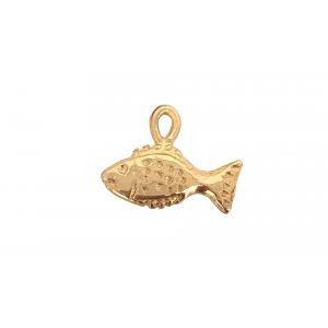 14K DEEP GOLD PLATE FISH CHARM