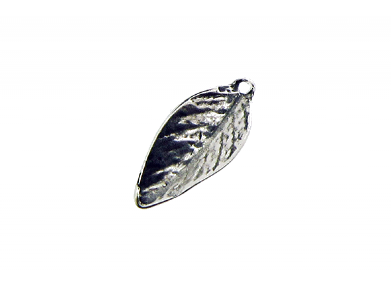 Sterling Silver 925 Leaf Charm 6.55mm x 13mm