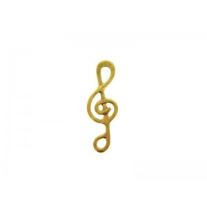 Gold Filled Treble Clef Charm, 6 x 17.9mm, 0.5mm thickness