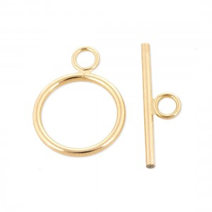 GOLD FILLED 5% 14K MEDIUM TOGGLE CLASP 12.5MM RING / 19MM BAR