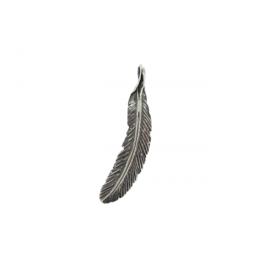 Sterling Silver 925 Feather Pendant