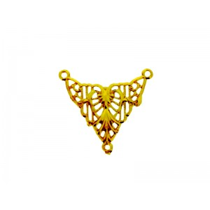 5% 14K Gold Plated Brass Triangle Connector, 15 x 15mm Gold Plated Charms, Pendants