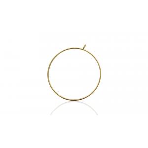 GF  2X1mm  FLAT WIRE RING 50mm O/DIA w/ 1X5mm J/RING