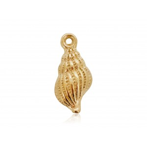 GOLD PLATED TULIP SHELL CHARM