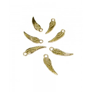 5% 14K GOLD PLATED WING CHARM W/RING 15.7 X 4.5 X 0.8 MM
