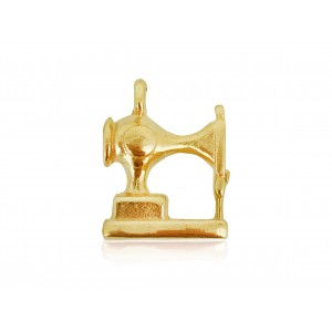 5% 14K GOLD PLATED SEWING MACHINE CHARM