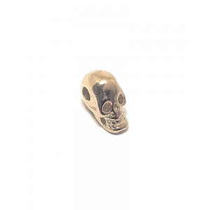 5% 14K GOLD PLATED SMALL SKULL CHARM W/HOLE 9.2 X 5 MM