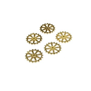 14K Gold Plated Wheel Pendant