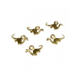 5% 14K GOLD PLATED DIPLODOCUS CHARM W/RING 10 X 7 X 0.8 MM