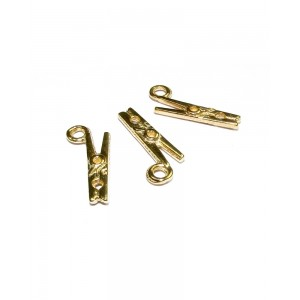 5% 14K GOLD PLATED PEG CHARM W/RING 18.5 X 4 X 2.5MM