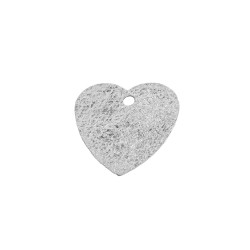 Sterling Silver 925 Stamped Drilled Heart Tag.