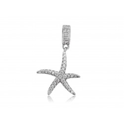 STERLING SILVER 925 CZ STARFISH CHARM
