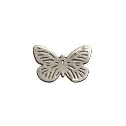 Sterling Silver 925 Flat Large Butterfly Pendant