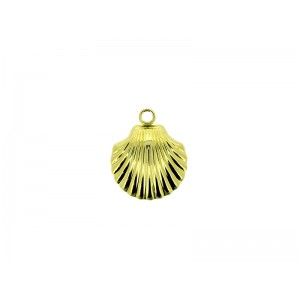 Gold Filled Shell Charm 17mm x 14.8mm