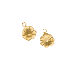 Gold Filled Flower Charm, 12mm