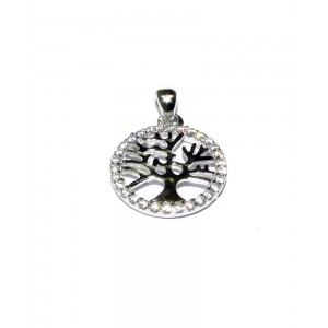 Sterling Silver C'z Life Tree Pendant
