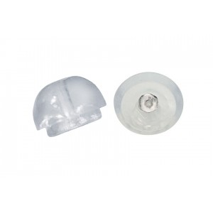 S925 EAR SCROLL IN SILICON DOME (PACK OF 5PR)